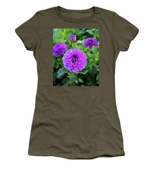 Royal Dahlia Delight Women's T-Shirt