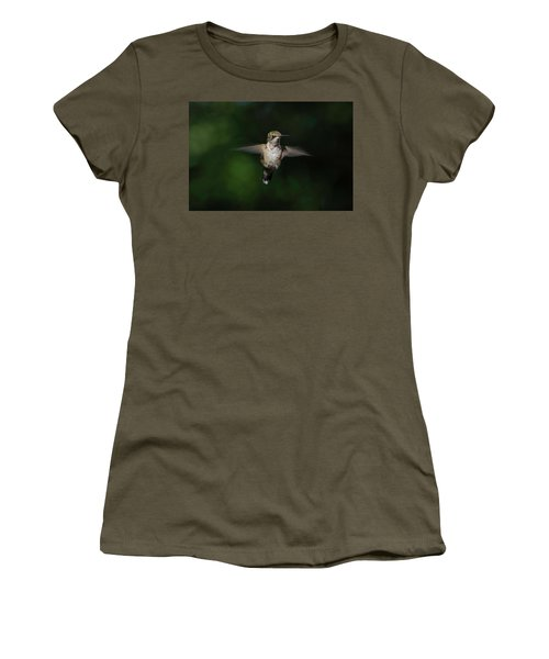 Ruby Throated Hummingbird Women's T-Shirt (Athletic Fit)