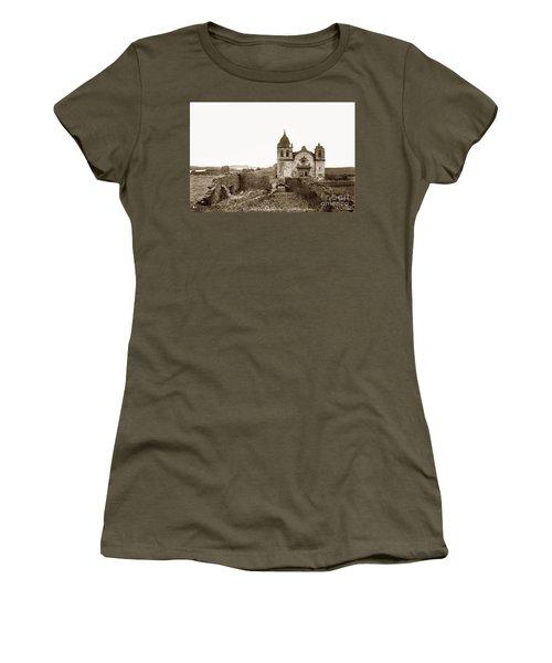 Ruins Of Carmel Mission, Monterey, Cal. Circa 1882 Women's T-Shirt