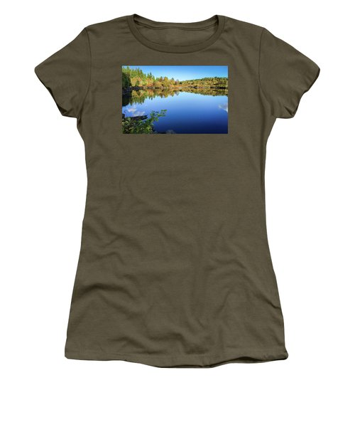 Women's T-Shirt (Athletic Fit) featuring the photograph Ruminating The Fall by Geoff Smith