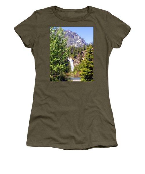 Running Eagle Falls Glacier National Park Women's T-Shirt