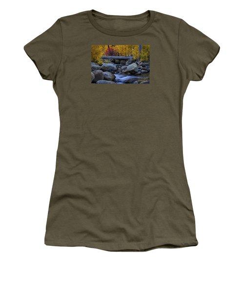 Rushing Into Autumn Women's T-Shirt (Junior Cut) by Mitch Shindelbower
