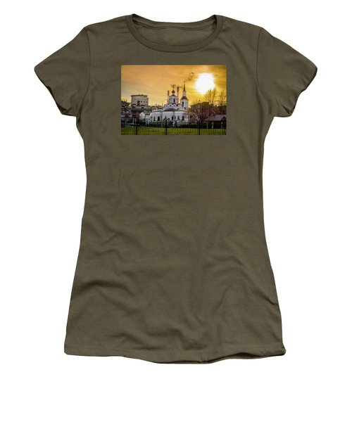 Women's T-Shirt (Junior Cut) featuring the photograph Russian Ortodox Church In Moscow, Russia by Alexey Stiop
