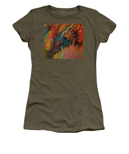 Women's T-Shirt (Junior Cut) featuring the painting Rust Never Sleeps by Kevin Caudill