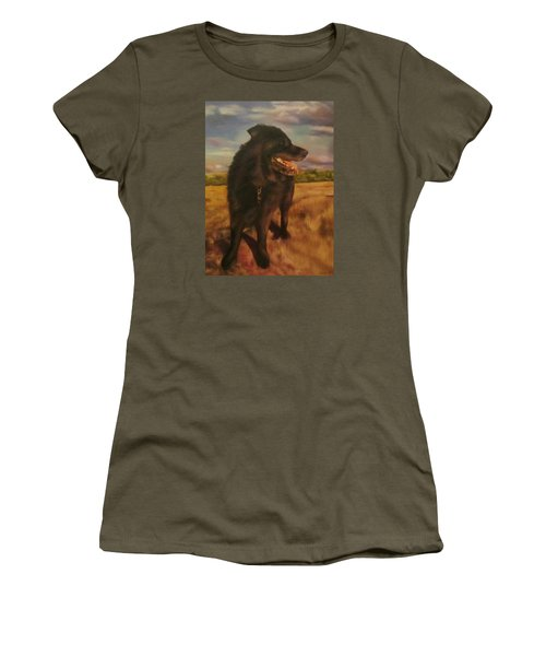 Women's T-Shirt (Junior Cut) featuring the painting Ruudi by Cherise Foster