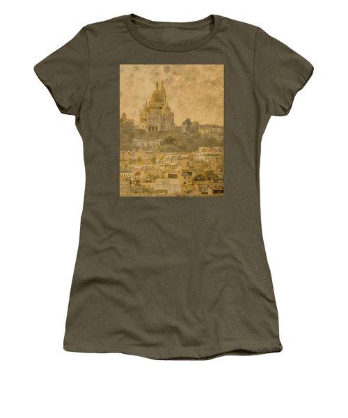 Paris, France - Sacre-coeur Oldplate Women's T-Shirt