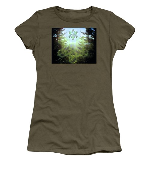 Sacred Forest Event Women's T-Shirt (Junior Cut) by Milton Thompson