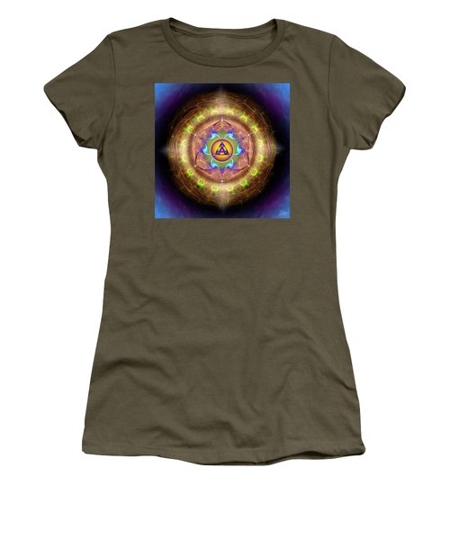 Women's T-Shirt (Athletic Fit) featuring the digital art Sacred Geometry 707 by Endre Balogh