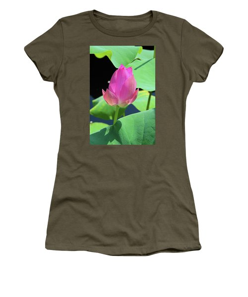 Sacred Pink Women's T-Shirt (Junior Cut) by Inspirational Photo Creations Audrey Woods