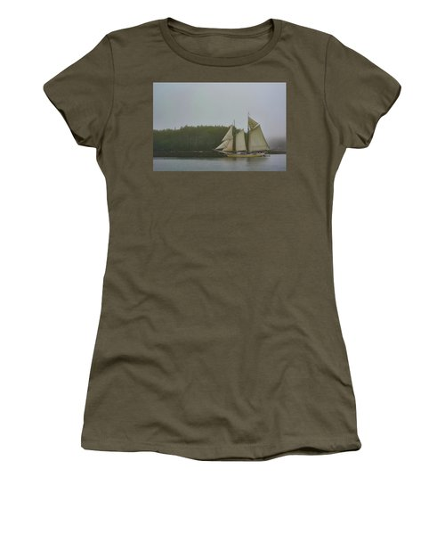 Sailing In The Mist Women's T-Shirt