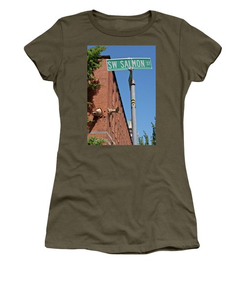 Salmon Through A Building Women's T-Shirt
