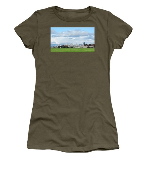 San Francisco Skyline From Crissy Field Women's T-Shirt (Junior Cut) by Mark Barclay