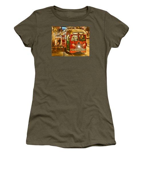 San Francisco's Ferry Terminal Women's T-Shirt (Junior Cut) by Steve Siri