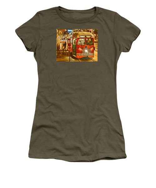 Women's T-Shirt (Athletic Fit) featuring the photograph San Francisco's Ferry Terminal by Steve Siri