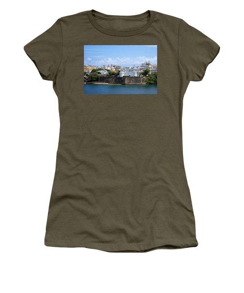 Women's T-Shirt (Junior Cut) featuring the photograph San Juan #1 by Lois Lepisto