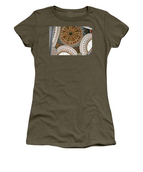 Women's T-Shirt (Junior Cut) featuring the photograph San Juan Capital Building Ceiling by Lois Lepisto