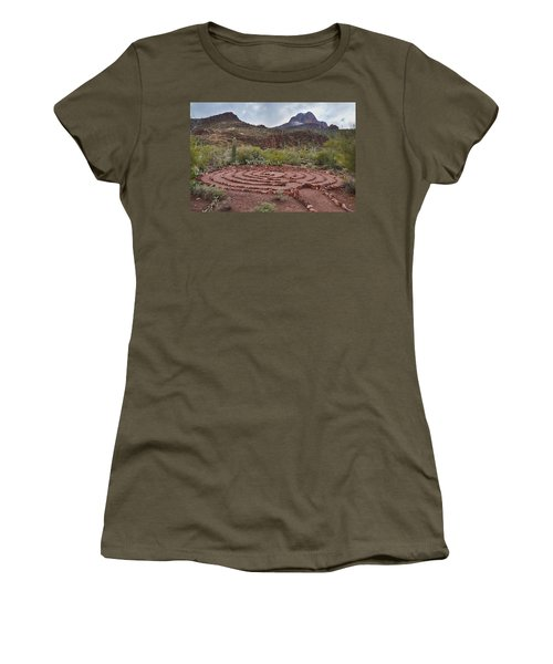 Sanctuary Cove Labyrinth Women's T-Shirt (Junior Cut) by Donna Greene