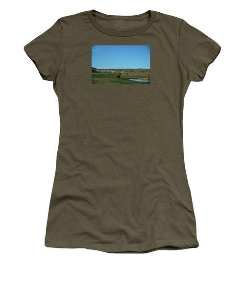 Women's T-Shirt (Junior Cut) featuring the photograph Sandhills Ranch by Mark McReynolds