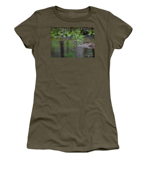 Sandpiper In The Smokies Women's T-Shirt (Junior Cut) by Douglas Stucky