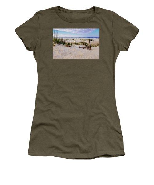 Sand  Fences On The Bogue Banks 2 Women's T-Shirt