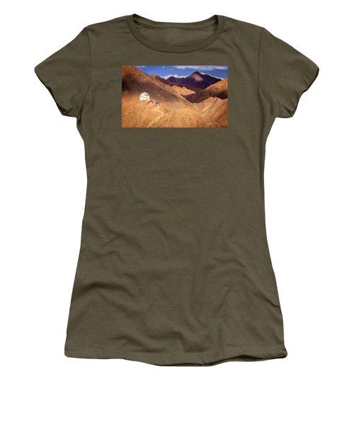 Women's T-Shirt (Junior Cut) featuring the photograph Sankar Monastery by Alexey Stiop
