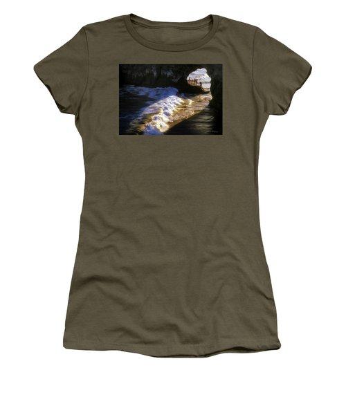 Women's T-Shirt (Junior Cut) featuring the photograph Santa Cruz 'bridge' California Coastline by John A Rodriguez