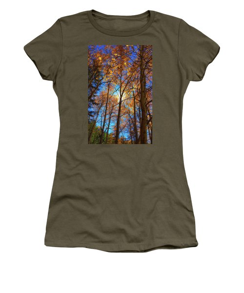 Women's T-Shirt (Junior Cut) featuring the photograph Santa Fe Beauty II by Stephen Anderson