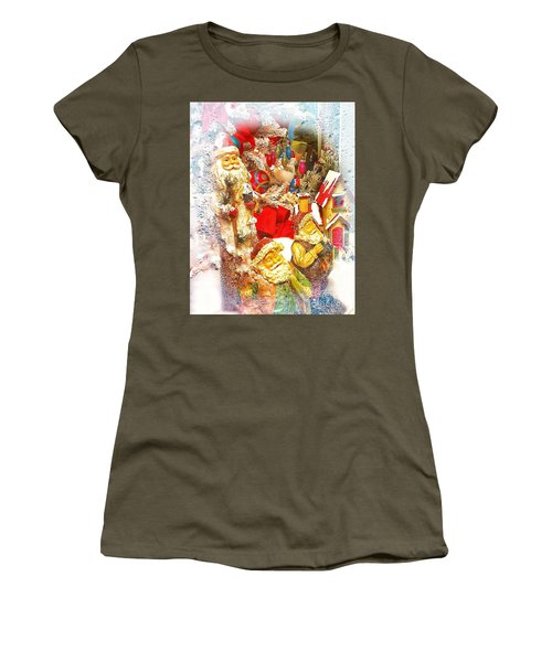 Santa Scene 1 Women's T-Shirt (Athletic Fit)