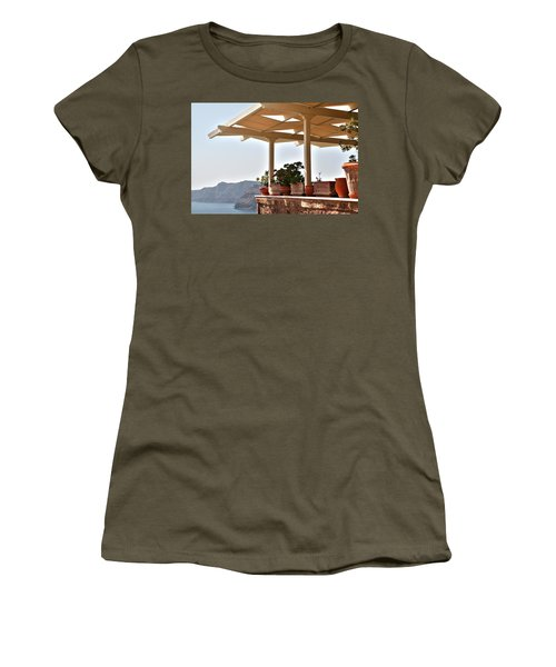 Santorini, Greece - Restaurant Women's T-Shirt