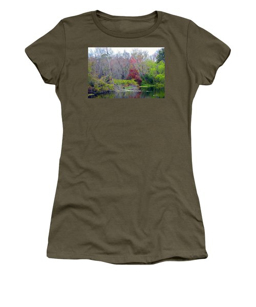 Women's T-Shirt (Junior Cut) featuring the photograph Sarasota Reflections by Madeline Ellis