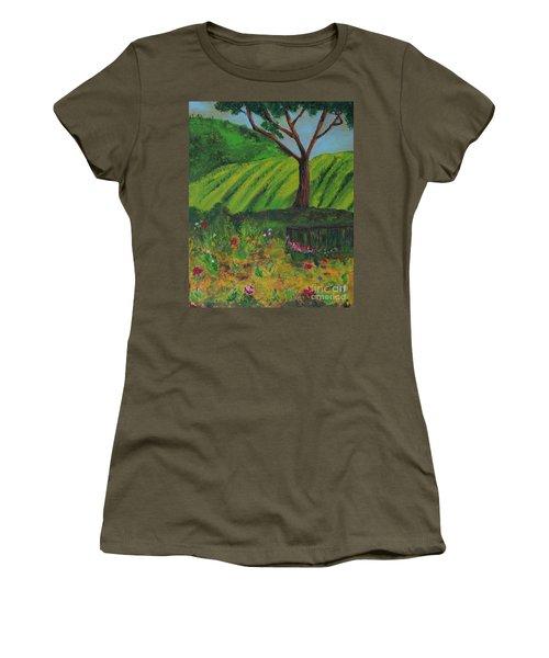 Saratoga Hills Women's T-Shirt (Junior Cut) by Haleh Mahbod