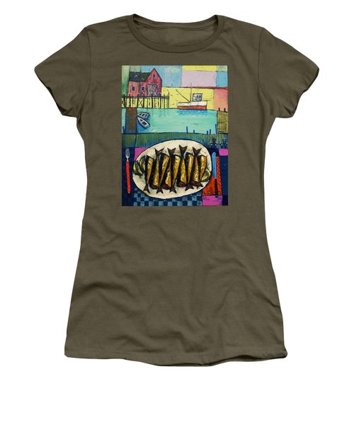 Sardines Women's T-Shirt (Junior Cut) by Mikhail Zarovny