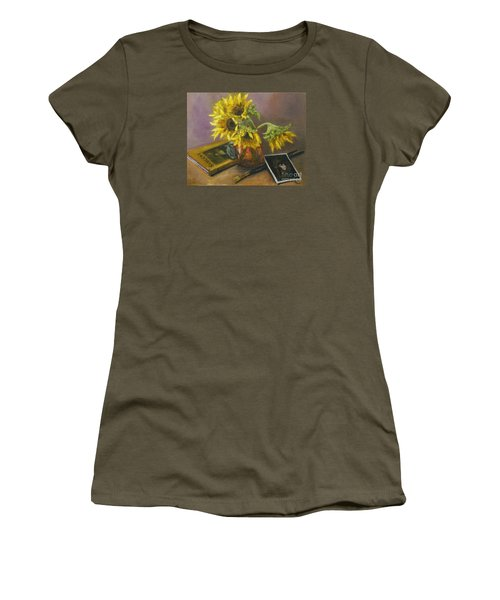 Sargent And Sunflowers Women's T-Shirt (Junior Cut) by Lisa  Spencer