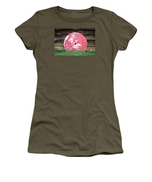 Saw Blade Women's T-Shirt (Junior Cut) by Marion Johnson