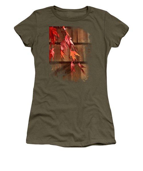 Scarlet Cascade Women's T-Shirt