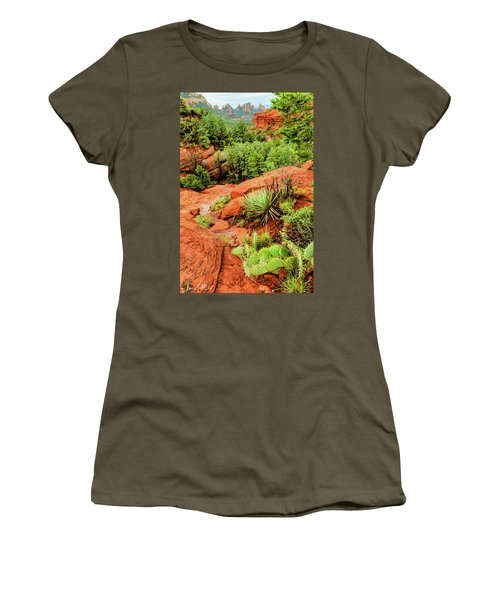 Schnebly Hill 07-057 Women's T-Shirt (Junior Cut) by Scott McAllister