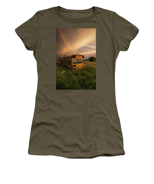 Women's T-Shirt (Athletic Fit) featuring the photograph School's Out  by Aaron J Groen