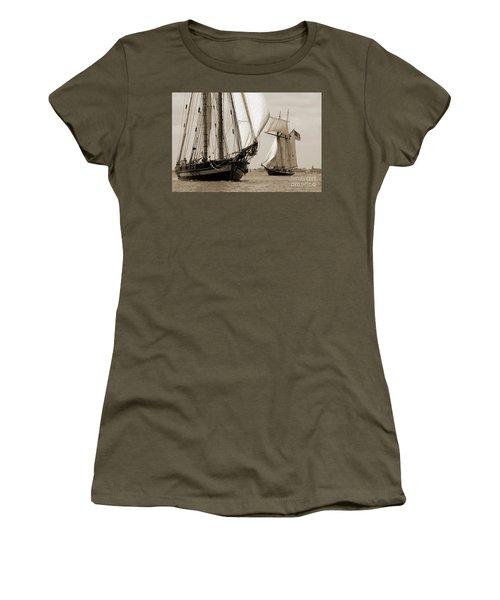 Schooner Pride Of Baltimore And Lynx Women's T-Shirt