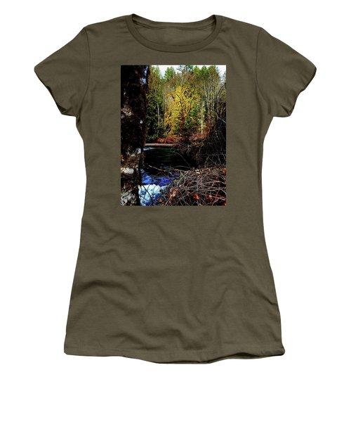 Scoggins Creek 3 Women's T-Shirt (Junior Cut) by Jerry Sodorff