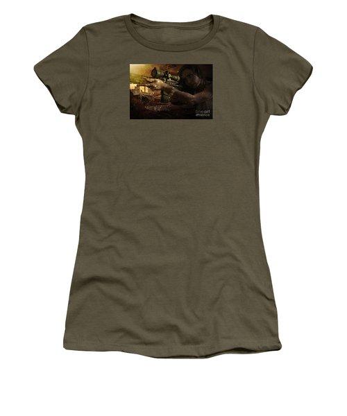 Scopped Women's T-Shirt (Junior Cut) by David Bazabal Studios