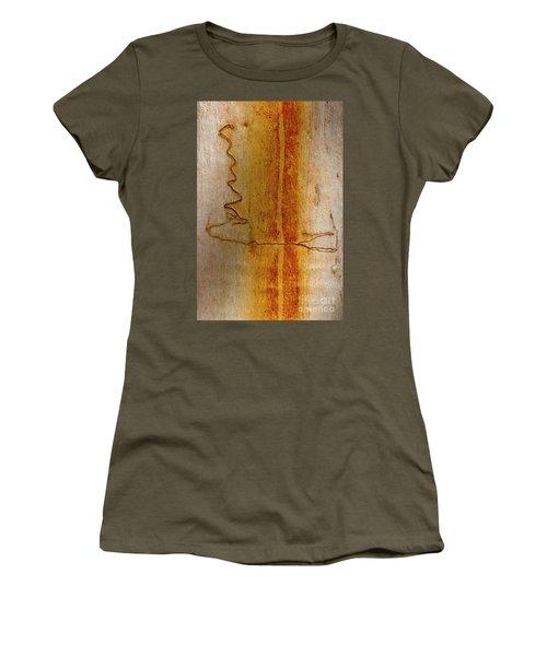 Women's T-Shirt (Junior Cut) featuring the photograph Scribbly Gum Bark by Werner Padarin