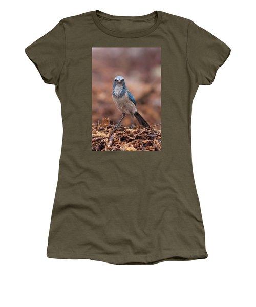 Scrub Jay On Chop Women's T-Shirt