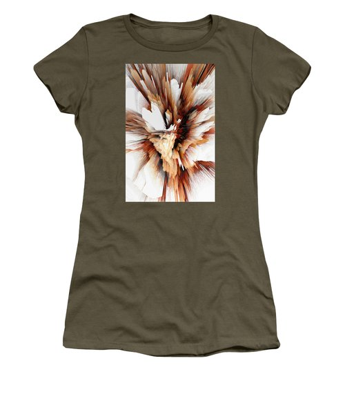 Women's T-Shirt (Athletic Fit) featuring the digital art Sculptural Series Digital Painting 23.120210ext5100l by Kris Haas