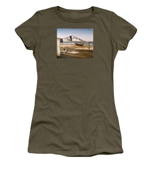 Women's T-Shirt (Junior Cut) featuring the painting Sea Kids by Natalia Tejera