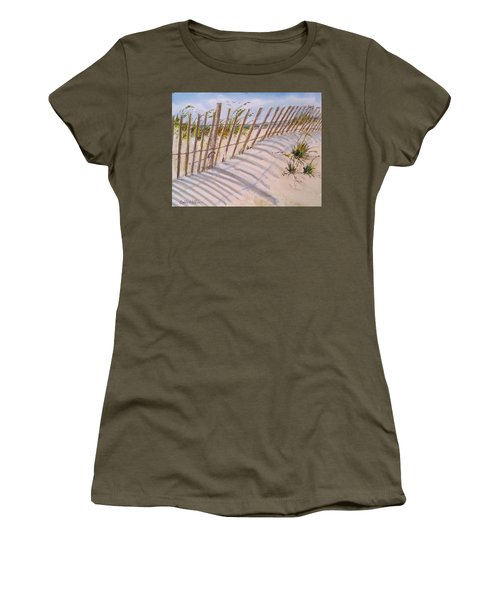 Sea Oats And Shadows Women's T-Shirt (Athletic Fit)