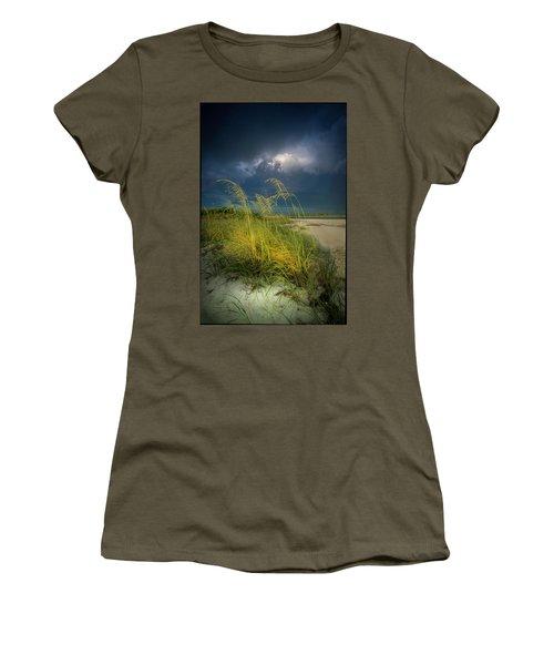 Sea Oats In The Storm Women's T-Shirt