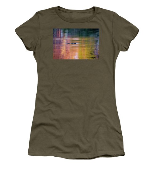 Women's T-Shirt (Junior Cut) featuring the photograph Sea Of Color by Bill Wakeley
