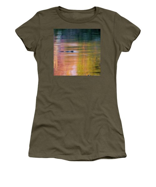 Women's T-Shirt (Junior Cut) featuring the photograph Sea Of Color Square by Bill Wakeley
