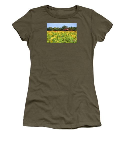 Sea Of Sunflowers Women's T-Shirt (Athletic Fit)