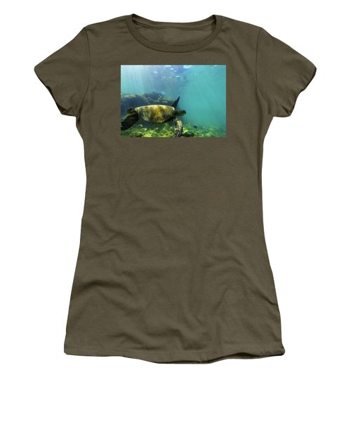 Women's T-Shirt (Junior Cut) featuring the photograph Sea Turtle #5 by Anthony Jones